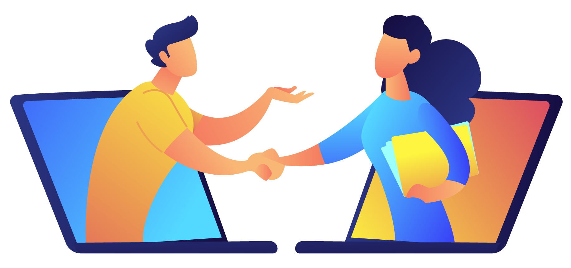 Demo Landing Page Shaking Hands